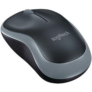 Logitech M185 Wireless Mouse, Nero/Grigio