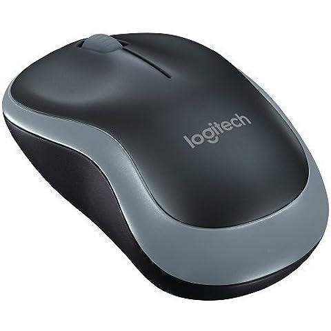 Logitech M185 Mouse Wireless, Nero/Grigio