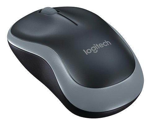 Logitech M185 Wireless Mouse, Nero/Grigio