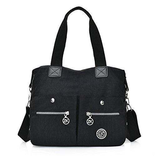 Foino Handtasche Damen Schultertasche Leichter Umhängetasche Università Mode Messenger Bag Schul Reisetasche Wasserdicht Taschen