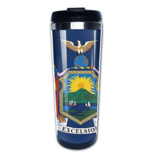 Acme&Real Stainless Steel Coffee Travel Mug Insulated Cup New York State Flag
