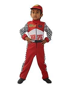 Cesar F659Disfraz piloto 3/5años (una combinación Rojo y una Gorra a Juego, 3A 5años