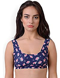 6bba822fb47c9 Shocknshop Navy Blue   Pink Printed Non-Wired Lightly Padded Full Cup All  Day Comfort
