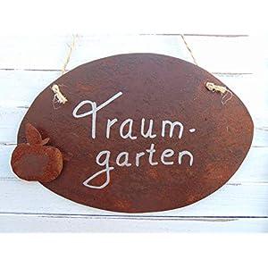 Edelrost Spruchtafel Tafel Schild Gartendeko Apfel