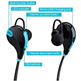 Xperia E1 II Compatible Wireless Bluetooth Bluetooth 4.1 Wireless Stereo Sport Headphones Headset Running Jogger Hiking Gym Exercise Sweatproof Earphones With AptX Hi-Fi Sound Hands-free Calling Built-in Mic For IPhone Samsung Galaxy IOS Windows Android S