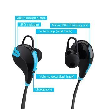 Xperia R1 (Plus) Compatible Wireless Bluetooth Bluetooth 4.1 Wireless Stereo Sport Headphones Headset Running Jogger Hiking Gym Exercise Sweatproof Earphones With AptX Hi-Fi Sound Hands-free Calling Built-in Mic For IPhone Samsung Galaxy IOS Windows Andro