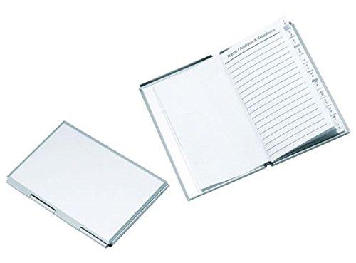 Ten Mini rubrica Alluminio cod.EL6810 cm 11x7x1h by Varotto & Co.