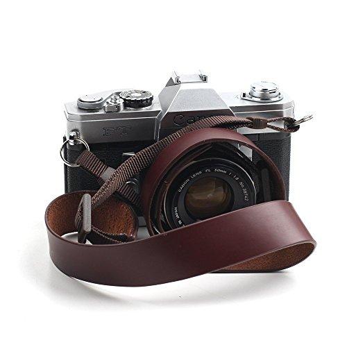 Canpis in vera pelle fatta a mano tracolla per fotocamera Nikon, Canon, Sony, Pentax Leica Olympus Fuji