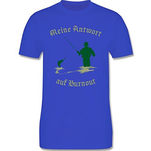 Angeln - Meine Antwort auf Burnout - Herren Premium T-Shirt Royalblau