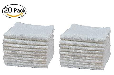 General fibres 22,1x 22,1cm Ultra Doux de chiffons de nettoyage en microfibre facile à nettoyer la poussière, sans Streak, idéal pour les appareils ménagers, meubles, Instruments de Musique, Bijoux et voitures (Lot de 20)