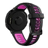 YaYuu Garmin Forerunner 735XT Bracelet de Remplacement, Bande de Montre en Silicone Watch Band avec Outils pour Forerunner 235/220/230/620/630/735XT Montre de Running GPS