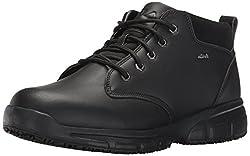 Fila Mens Memory Mike Mid Sr Walking Shoe, Black/Black/Metallic Silver, 10.5 M US