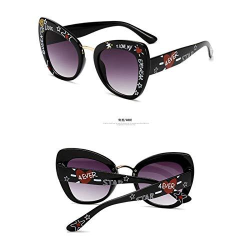 FGRYGF-eyewear2 Sport-Sonnenbrillen, Vintage Sonnenbrillen, Oversized Cat Eye Sunglasses Women Luxury NEW Cateye Eye Glasses Love Shape Stylish Graffiti Lunette De Soleil Femme