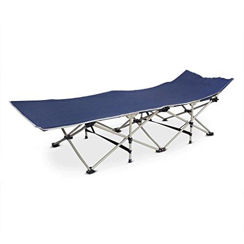 Todeco - Lit de Plage Pliant, Transat Réglable - Matériau: Polyester 600D, Tubes en Acier - Charge maximale: 150 kg - 190 x 67 x 35 cm, Bleu Marin