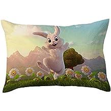 Almohada de Pascua,BBestseller Soft Velvet Cojines Sofas rectangulares Imprimiendo Fundas de cojín Dormitorio Decorativas