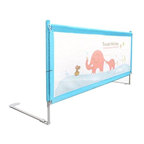 Mesh-Bett-Schiene für Kleinkinder-Twin-Bett, Lange Sicherheit Bedrail Full-Size-Bett Blau Bed Guard für Kinder Baby (größe : 1.9m) (Full-size-bett Für Kleinkind)