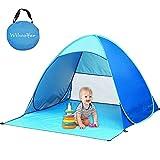 Wilwolfer Beach Tent Automatic Pop Up Beach Sun Shelter Instant Portable Cabana Outdoors