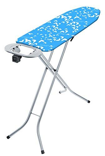 Vileda Viva Express Smart Plus Bügeltisch, blau, dampfdurchlässiger Oberfläche, 114 x 34 cm