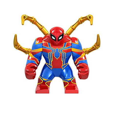 QXMEI Spiderman Far from Home Anti Venom Carnage Avengers Building Blocks Giocattoli Figure,Red