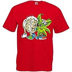 Camiseta transfer Cerveza y Maria Roja-[Talla:M]