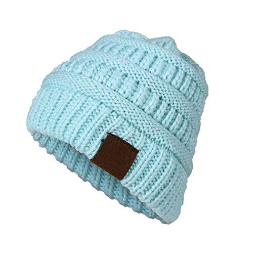 Cappellino in maglia per bambini lana elasticizzata