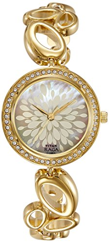 Titan Women's Raga Analog Mother Of Pearl Dial Watch