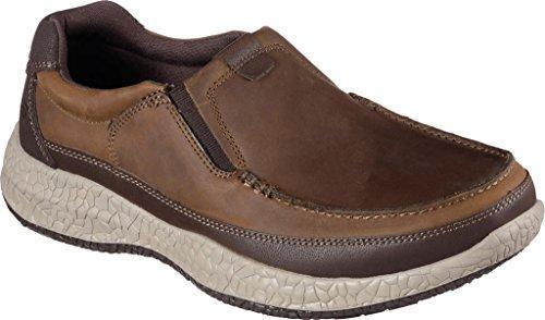 Skechers Mens Bursen Esten Slip On Shoe brown