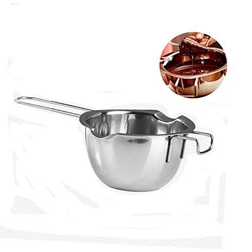 ICYANG Edelstahl Schokolade Schmelztopf Schmelzschüssel Langen Griff Milch Wärmer Backen Werkzeuge Geschmolzene Butter Käse Karamell
