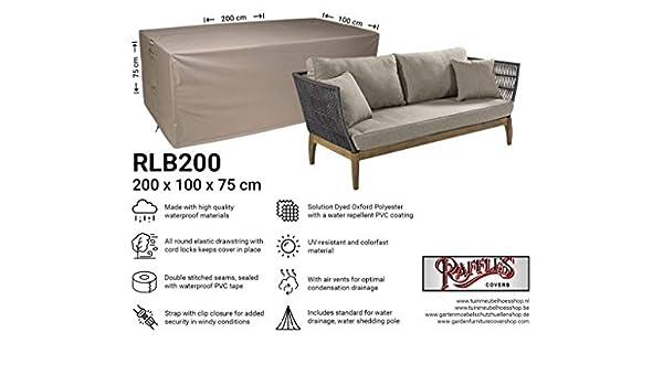200 x 100 cm Raffles Covers NW-RLB200straight Copertura per Divano da Esterno Copridivano 2-3 posti
