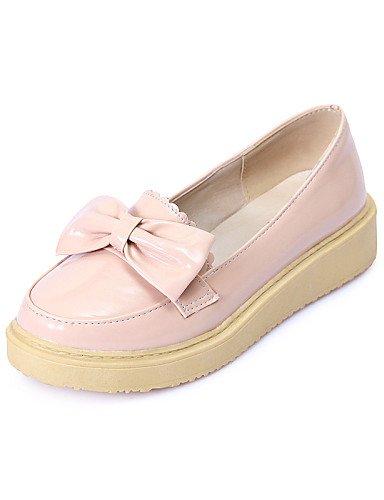 ZQ gyht Scarpe Donna - Mocassini - Tempo libero / Casual - Punta arrotondata - Basso - Finta pelle - Rosa / Bianco / Beige , pink-us8 / eu39 / uk6 / cn39 , pink-us8 / eu39 / uk6 / cn39 pink-us5.5 / eu36 / uk3.5 / cn35