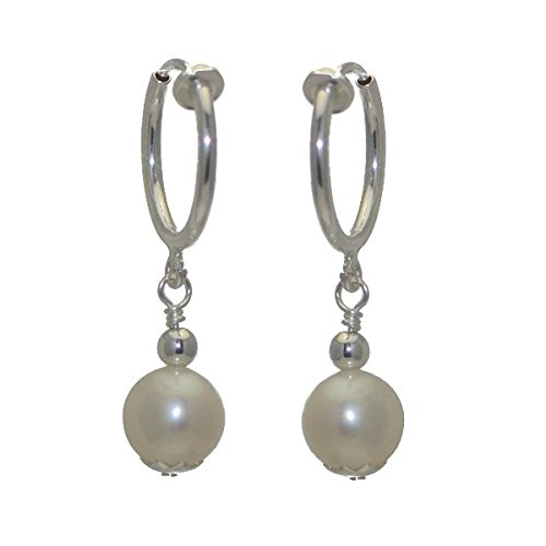 fresca-uno-cerceau-silver-plated-8mm-freshwater-pearl-clip-on-earrings