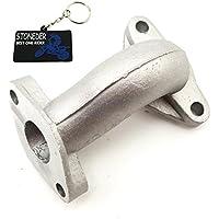 Stoneder - Tubo de entrada/colector de admisión para carburador de motor chino de 50cc, 70cc, 90cc, 110cc, 125cc - Para motos de motocross, quads de tracción total y quads