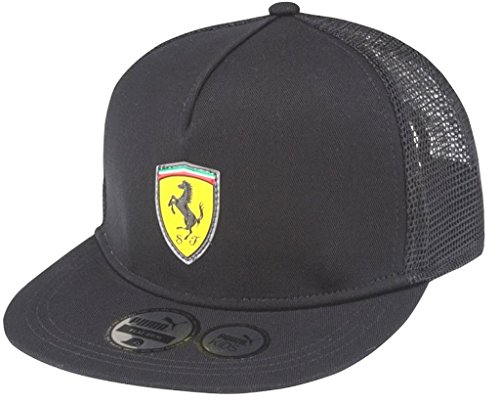 PUMA Ferrari Kids Cap (761484 01) (Black) (One Size) (Trucker Hut Puma)