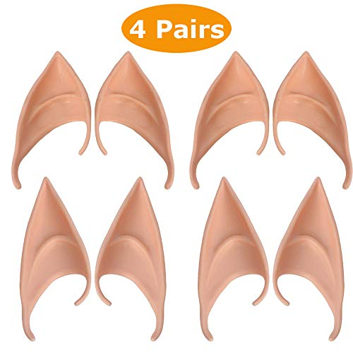 4 Coppie Elf Ears Orecchie Elfo Lattice Pixie Fata per Cosplay Anime Puntelli Costume Accessori del Partito