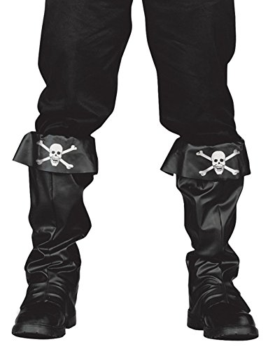 Fun World Captain Jack Adult Pirate Boot Covers (Boot Cover Pirate)
