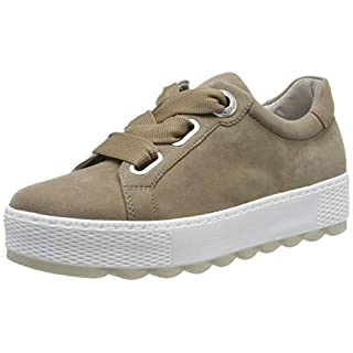 Gabor Shoes Damen Comfort Basic Sneaker Beige (Sahara), 41 EU