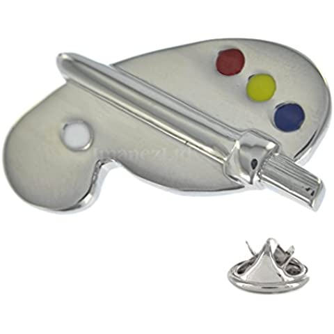 Artists Pallette Pin Badge in metallo