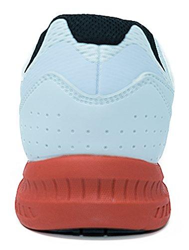 Brunswick Fuze Bowling-Schuhe für Damen und Herren, für Rechts- und Linkshänder Schuhgröße 39-46, in verschiedenen Farben Weiß-Rot