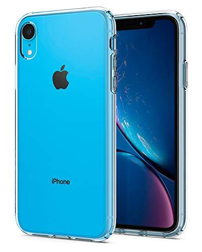 Spigen Liquid Crystal Kompatibel mit iPhone XR Hülle, 064CS24866 Transparent TPU Silikon Handyhülle Durchsichtige Schutzhülle Case (Crystal Clear) - Lange Kamera-objektive