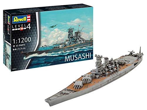 Revell- Musashi, Escala 1:1200 Kit de Modelos de plástico, 1/1200 (06822 6822