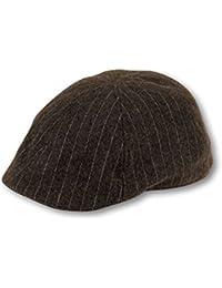 GA-CLAS-3 - Gatsby Classic Flatcap klassische Schiebermütze Golfcap Golfmütze Schirmmütze Nadelstreifen Look