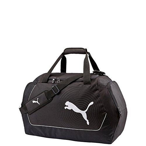 Puma 072117 01 - borsone sportivo evopower, misura media, colore nero/bianco, nero (nero/bianco), 58 x 33 x 26 cm