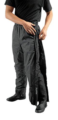 Difi ZIP Motorrad Regenhose Farbe schwarz, Größe XL