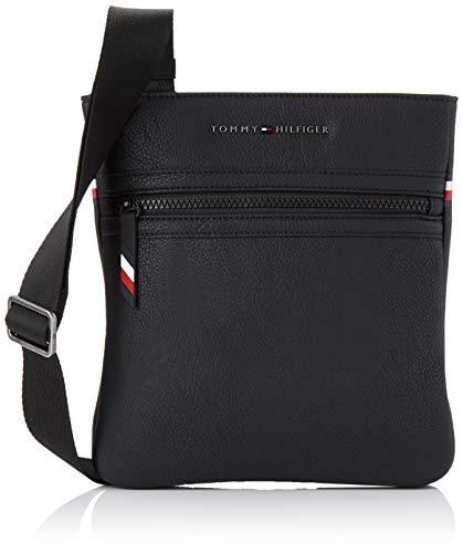 Tommy Hilfiger Herren Essential Crossover Schultertasche, Schwarz (Black) 3x23x22 cm