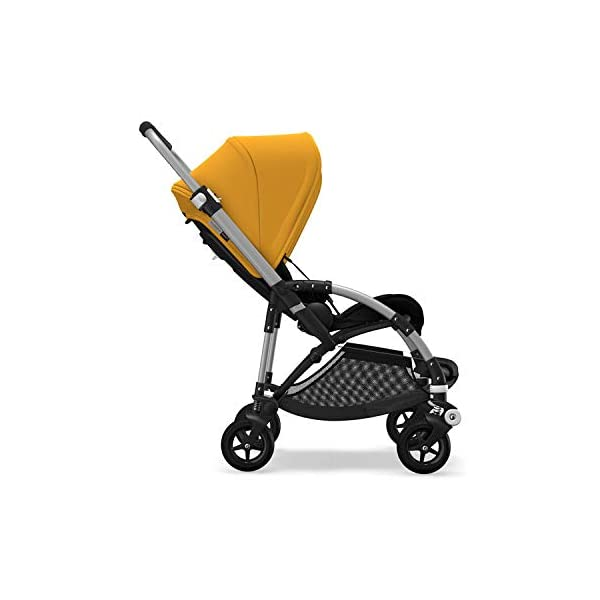 Bugaboo Bee 5, Foldable and Lightweight Pushchair, Converts Into Pram, Black/Sunrise Yellow Bugaboo The perfect choice for travel and city living Use a cocoon or carrycot to convert into a pram for newborns (both sold separately) Compatible with a wide range of car seats (please see list below) 1