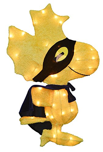 ProductWorks 16276_L2D Peanuts 2D LED Vorbeleuchteter Yard Art, Woodstock Außenbeleuchtung, Urlaub, Mehrfarbig