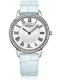 Rotary LS00358/06/B Damen-Armbanduhr Analog Quarz Leder