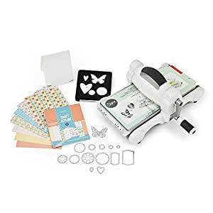 Sizzix Big Shot Starter Kit, Acciaio inossidabile, Bianco, 17x31x36.2 cm