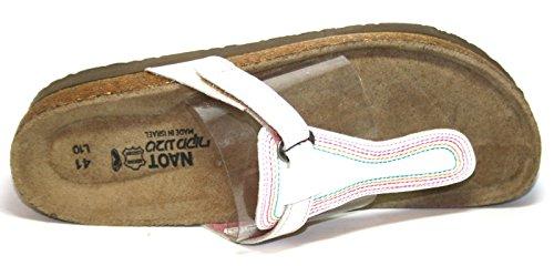 Naot Daytona–Scarpe da donna a sabot/dita dei piedi Bianco