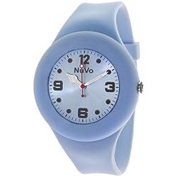 Nuvo - NU13H22 - Unisey Armbanduhr vom Armband abtrennbar - Pinkes Zifferblatt - Pinkes austauschbares Armband aus Silikon - Modisch - Elegant - Stylish